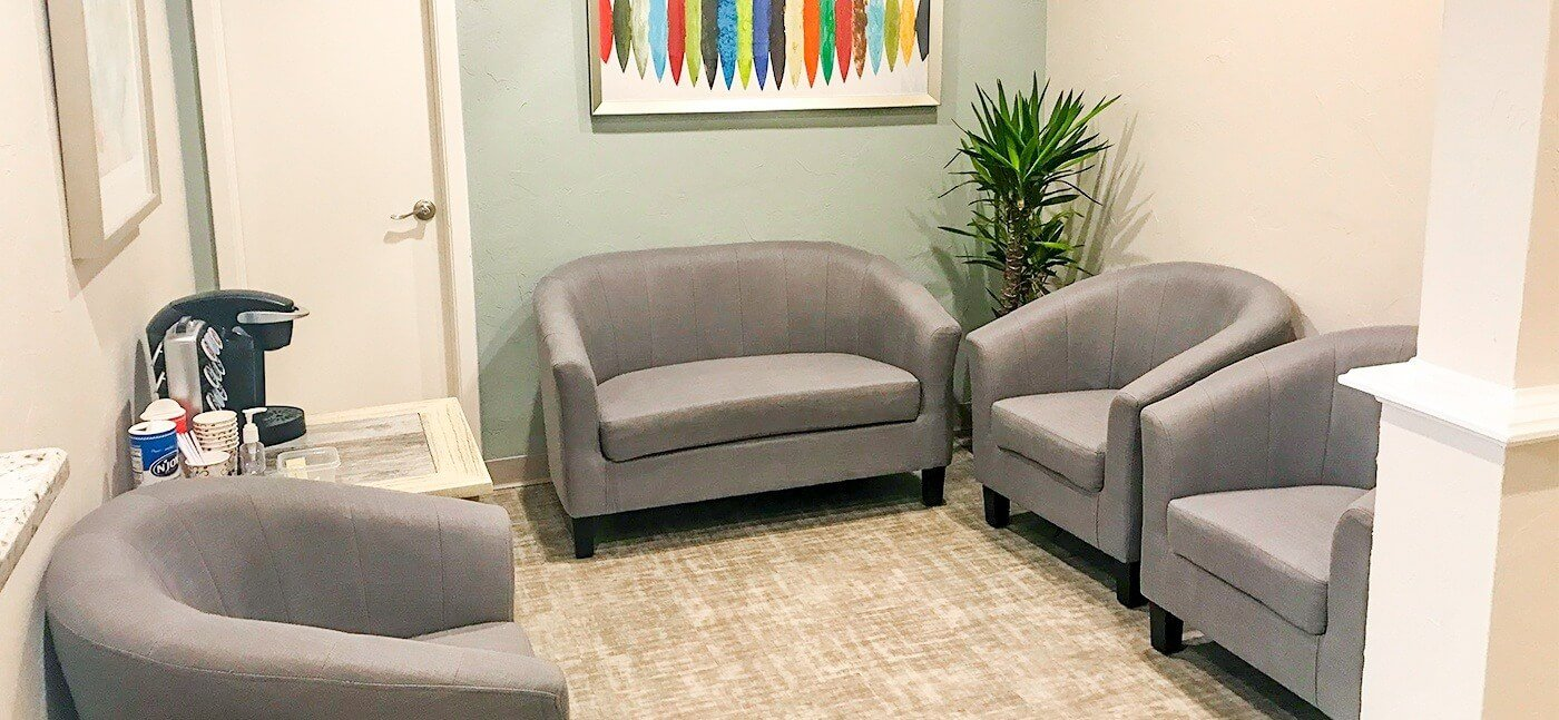 Cozy dental office waiting area
