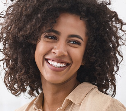 Woman with healthy smile