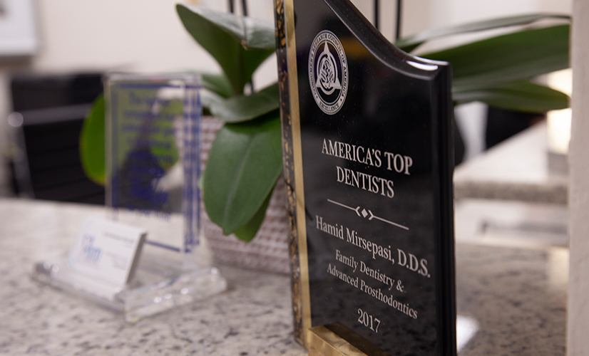 America's Top Dentists award plaque
