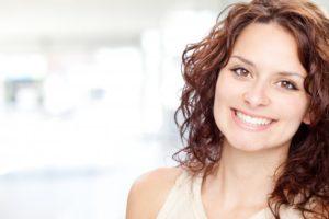 woman smiling brunette nice teeth
